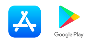 logo's app store & google play store